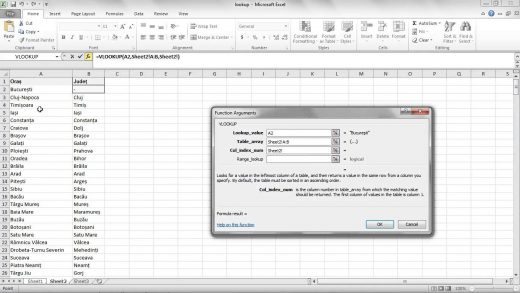 Functia Vlookup in Excel
