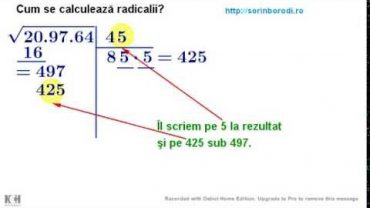 Cum se calculeaza radicalii