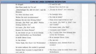 Curs de limba Germana incepatori – Lectia 17