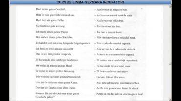 Curs de limba Germana incepatori – Lectia 22