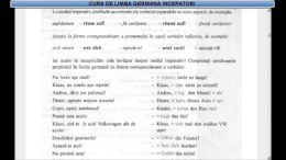 Curs de limba Germana incepatori – Lectia 25