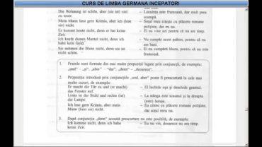 Curs de limba Germana incepatori –  Lectia 26