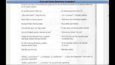 Curs de limba Germana incepatori – Lectia 29