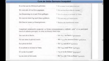 Curs de limba Germana incepatori – Lectia 30