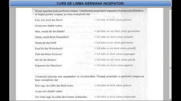 Curs de limba Germana Incepatori – Lectia 32