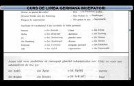 Curs de limba Germana incepatori  – Lectia 11