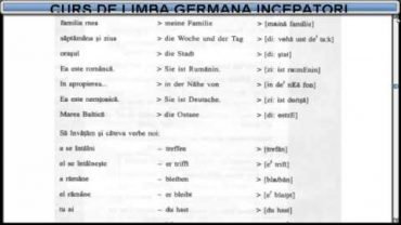 Curs de limba Germana incepatori – Lectia 5