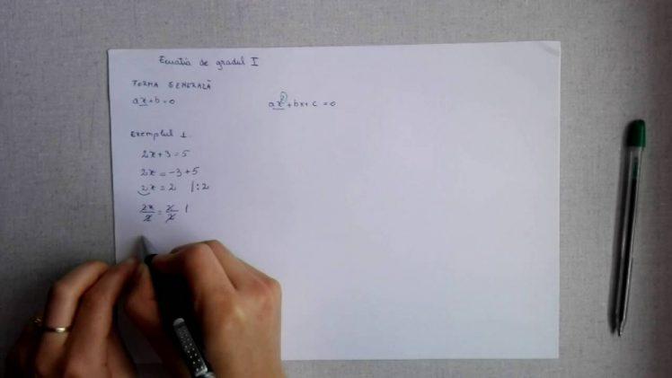 Ecuatia de gradul I