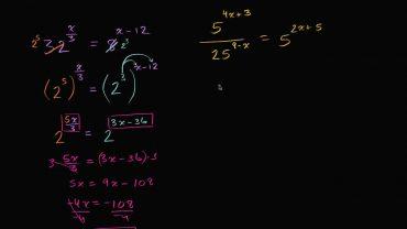 Ecuatii exponentiale