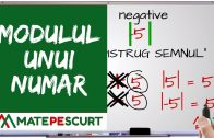 Numere negative si pozitive (exercitii)