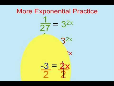 Ecuatiile exponentiale